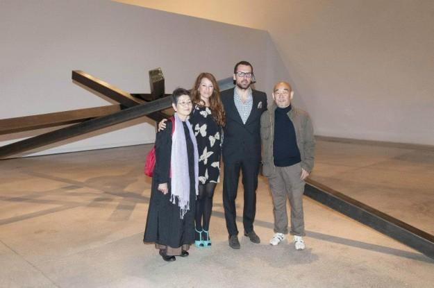Da sinistra, Hidetoshi Nagasawa, Giacomo Guidi, Simona Gavioli e Kimiko Ezaki, moglie di Nagasawa, Kimiko.