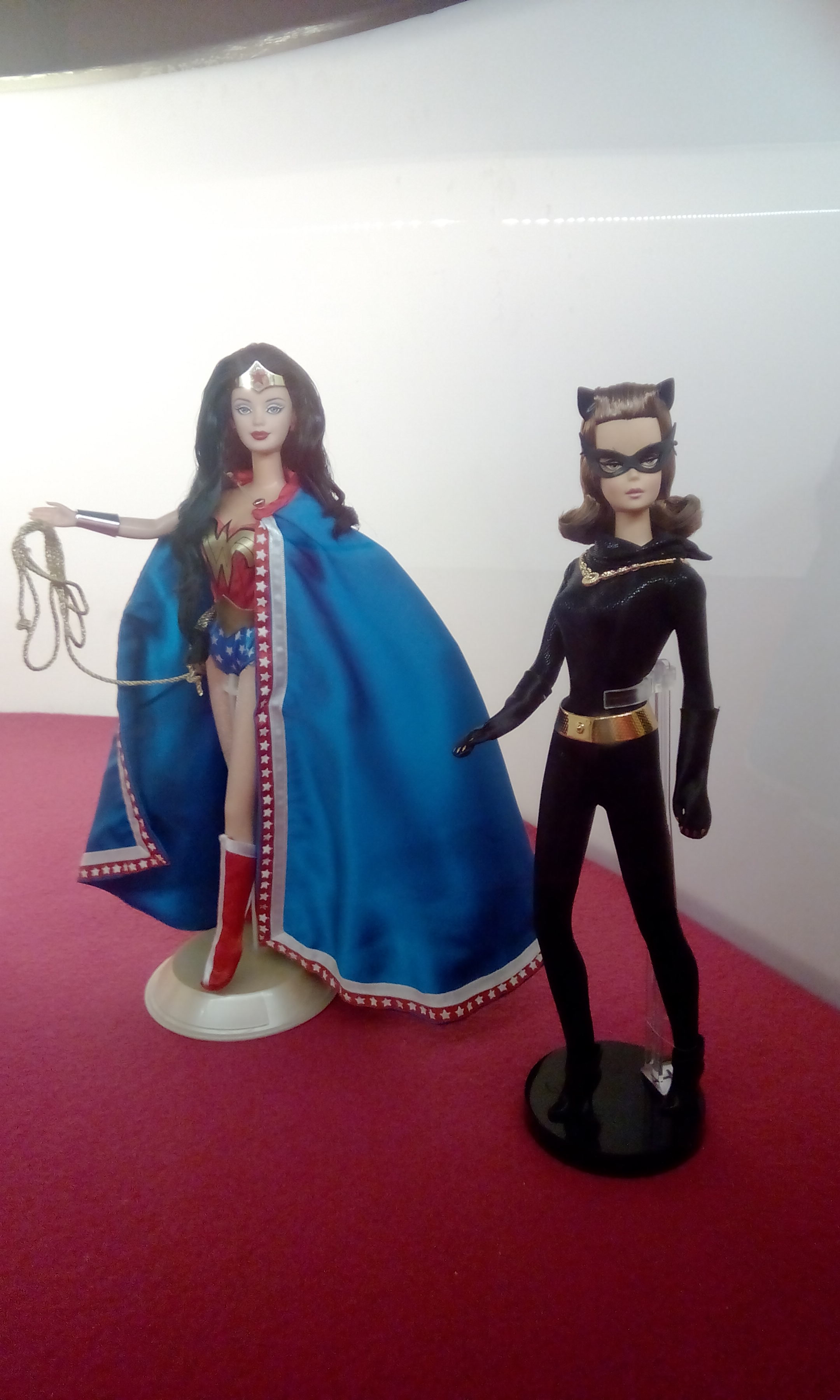 Wonder woman and Cat woman doll