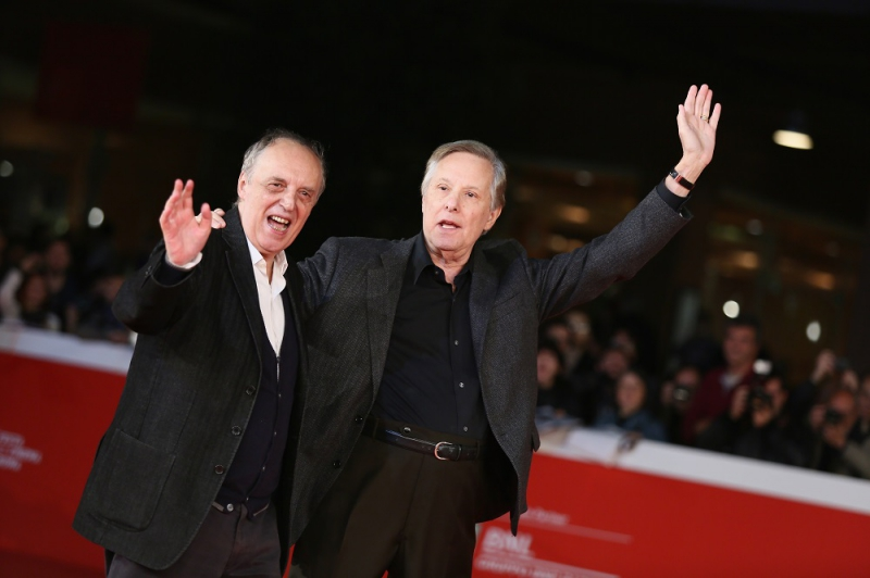 William Friedkin And Dario Argento walk the red carpet during the 10th Rome Film Fest on October 19, 2015 in Rome, Italy.