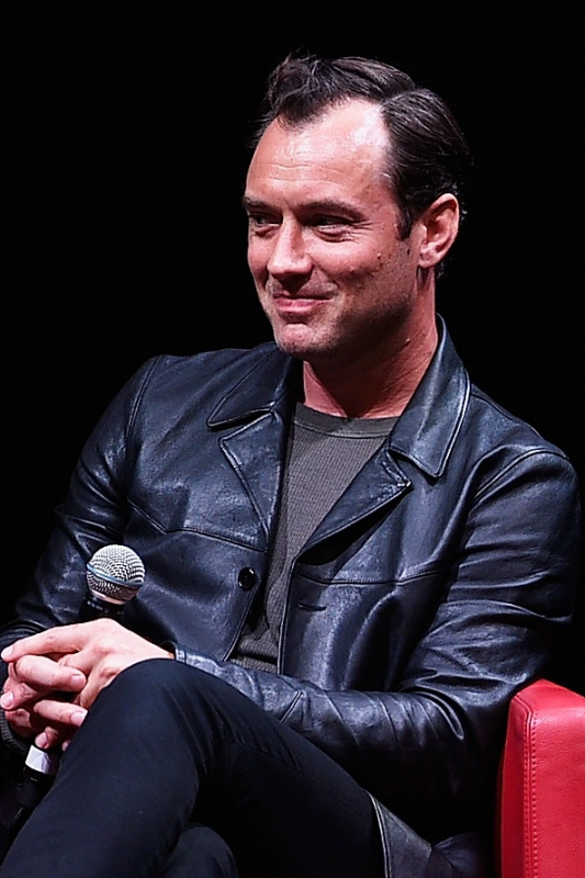 Jude Law meets the audience during the 10th Rome Film Fest at Auditorium Parco Della Musica on October 17, 2015 in Rome, Italy.