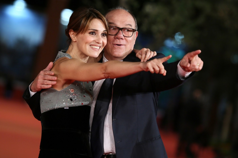 Carlo Verdone & Paola Cortellesi walk the red carpet during the 10th Rome Film Fest on October 24, 2015 in Rome, Italy.