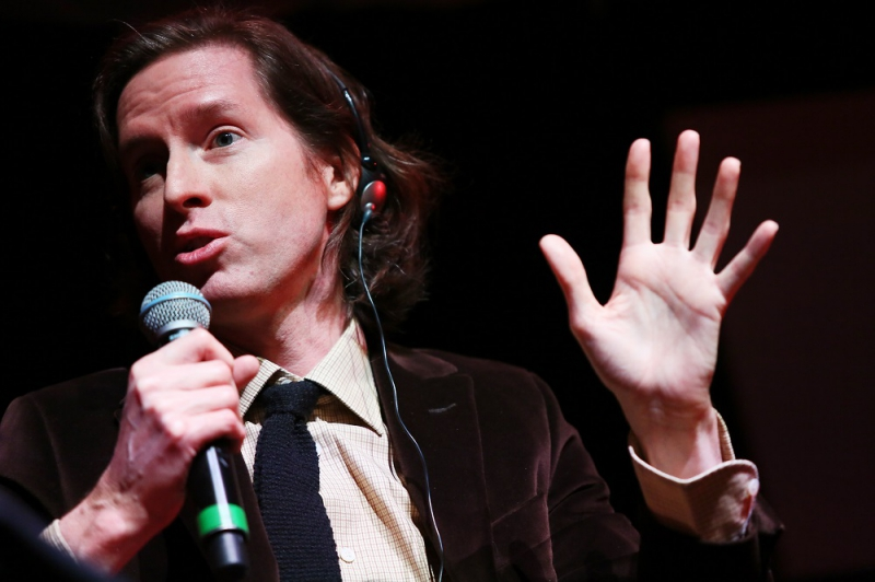 Wes Anderson And Donna Tartt meet the audience during the 10th Rome Film Fest at Auditorium Parco Della Musica on October 19, 2015 in Rome, Italy.