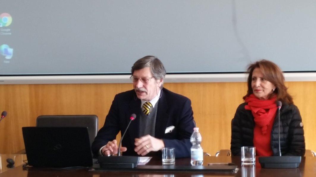Aldo Riggio (Italia Nostra) e Carmen Parisio di Penta (Direttore Generale Marevivo)