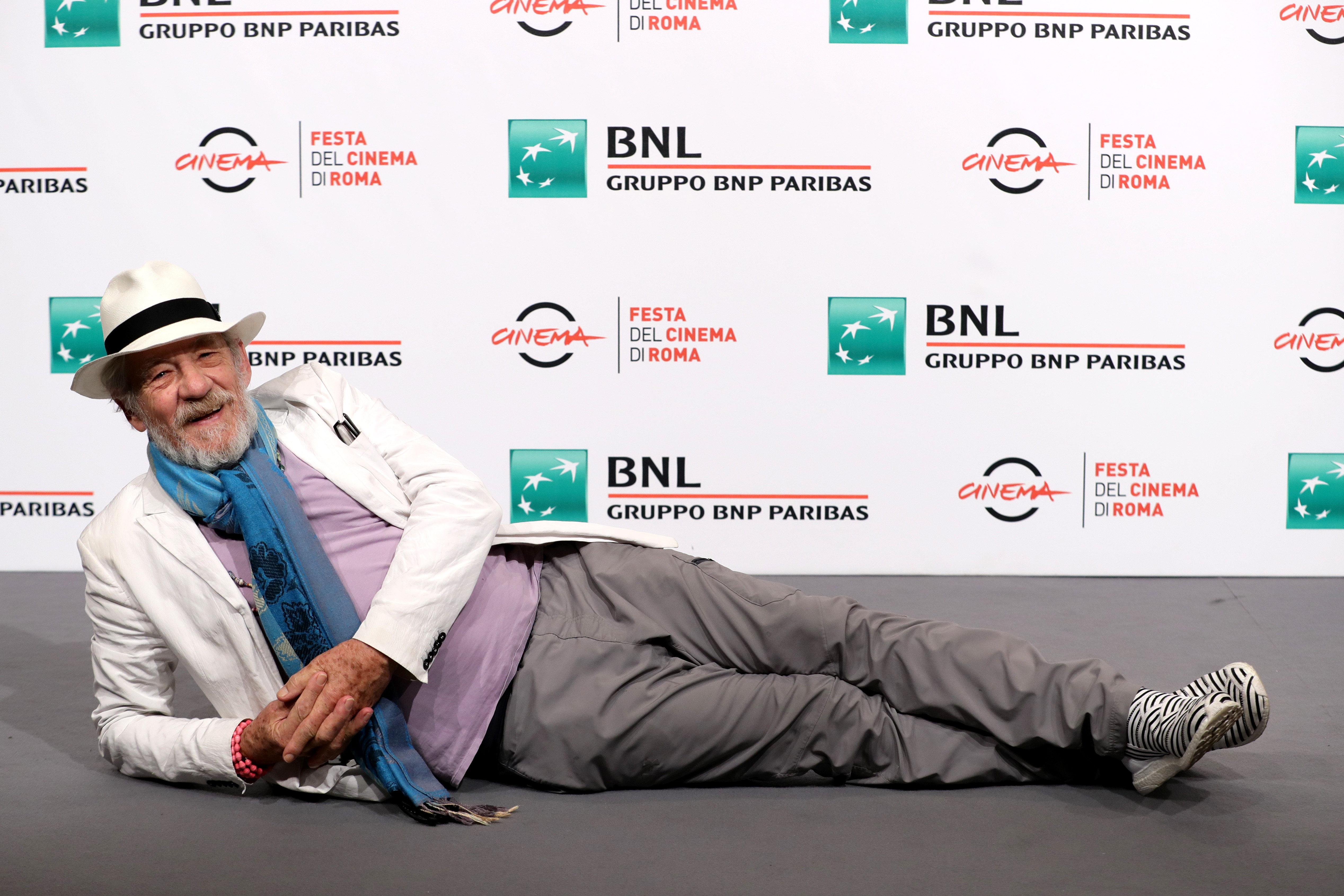 Ian McKellen attends a photocall during the 12th Rome Film Fest at Auditorium Parco Della Musica on November 1, 2017 in Rome, Italy.