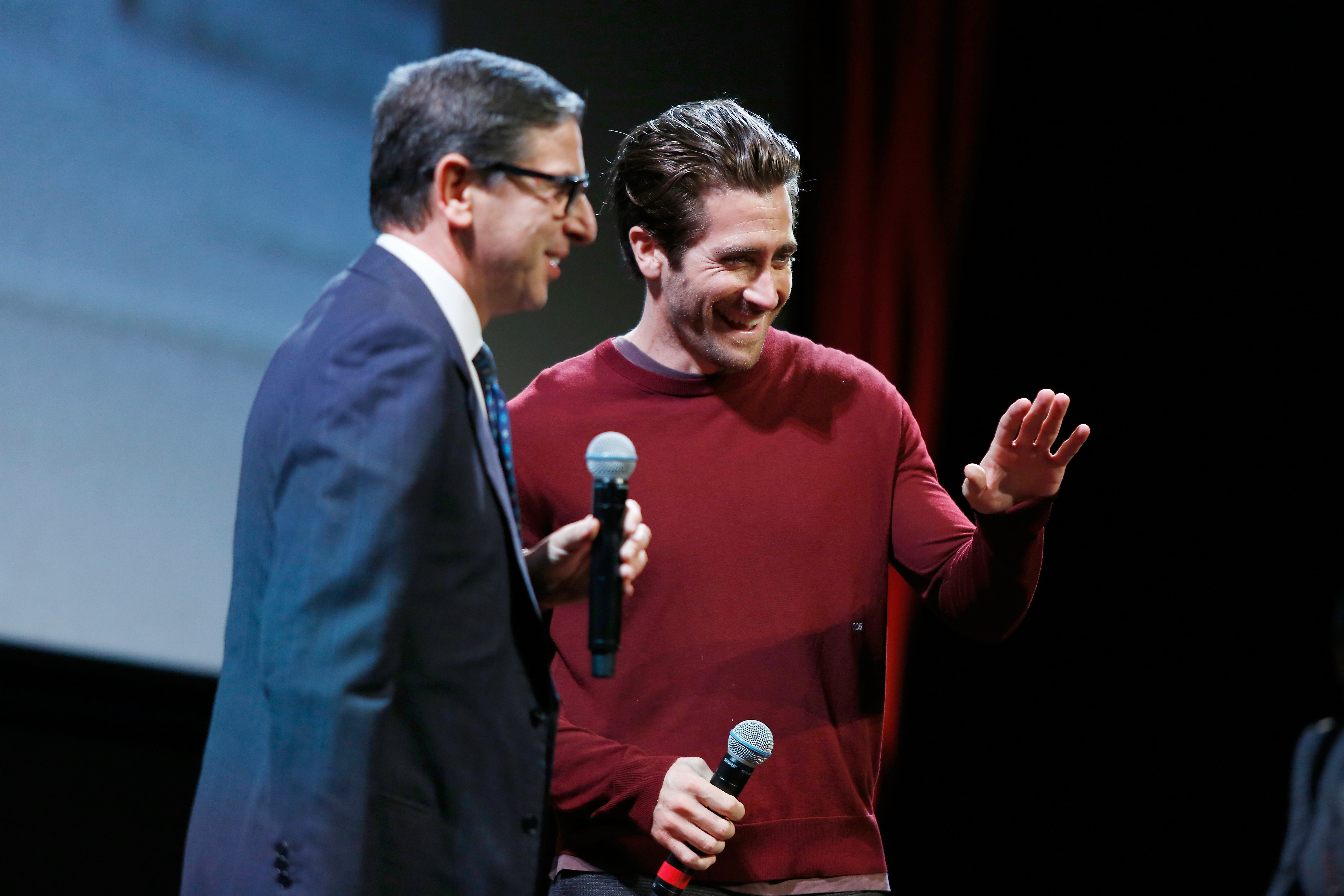 Jake Gyllenhaal meets the audience during the 12th Rome Film Fest at Auditorium Parco Della Musica on October 29, 2017 in Rome, Italy.