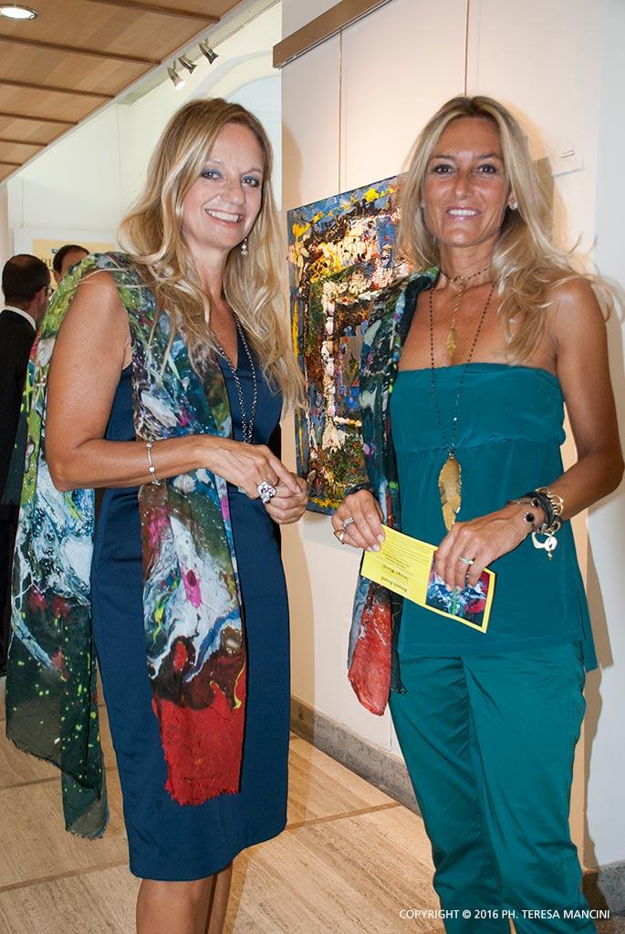 Fabiola Cinque con Barbara Ricci