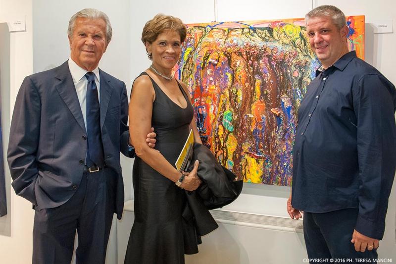 Arvedo Arvedi con Melissa Grant e Gaetano Castelli
