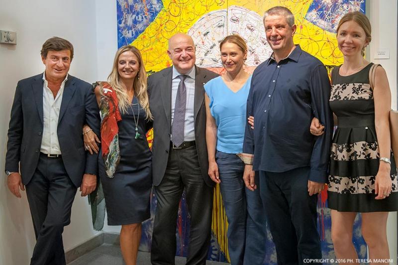 Arvedo Arvedi con Nicolino Grigio e altri ospiti