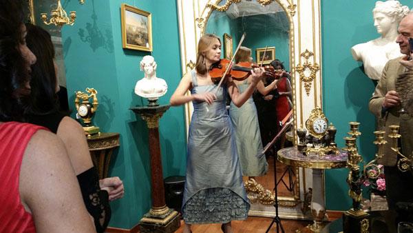 La violinista Alyona Afonichkina foto di Eugenia Gadaleta