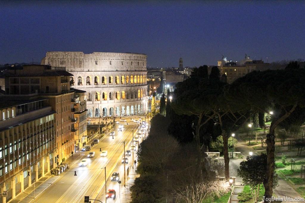 Mercure Roma Centro Colosseo-Panorama di notte