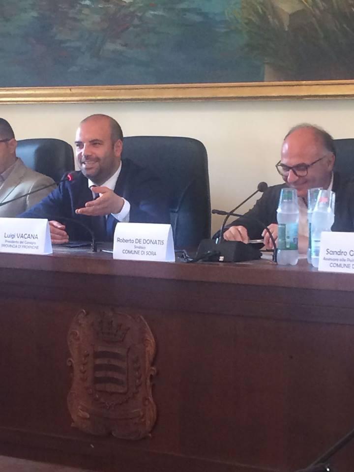 Il Presidente del Consiglio Provinciale Luigi Vacana e l'Assessore alle politiche culturali del Comune di Sora Sandro Gemmiti