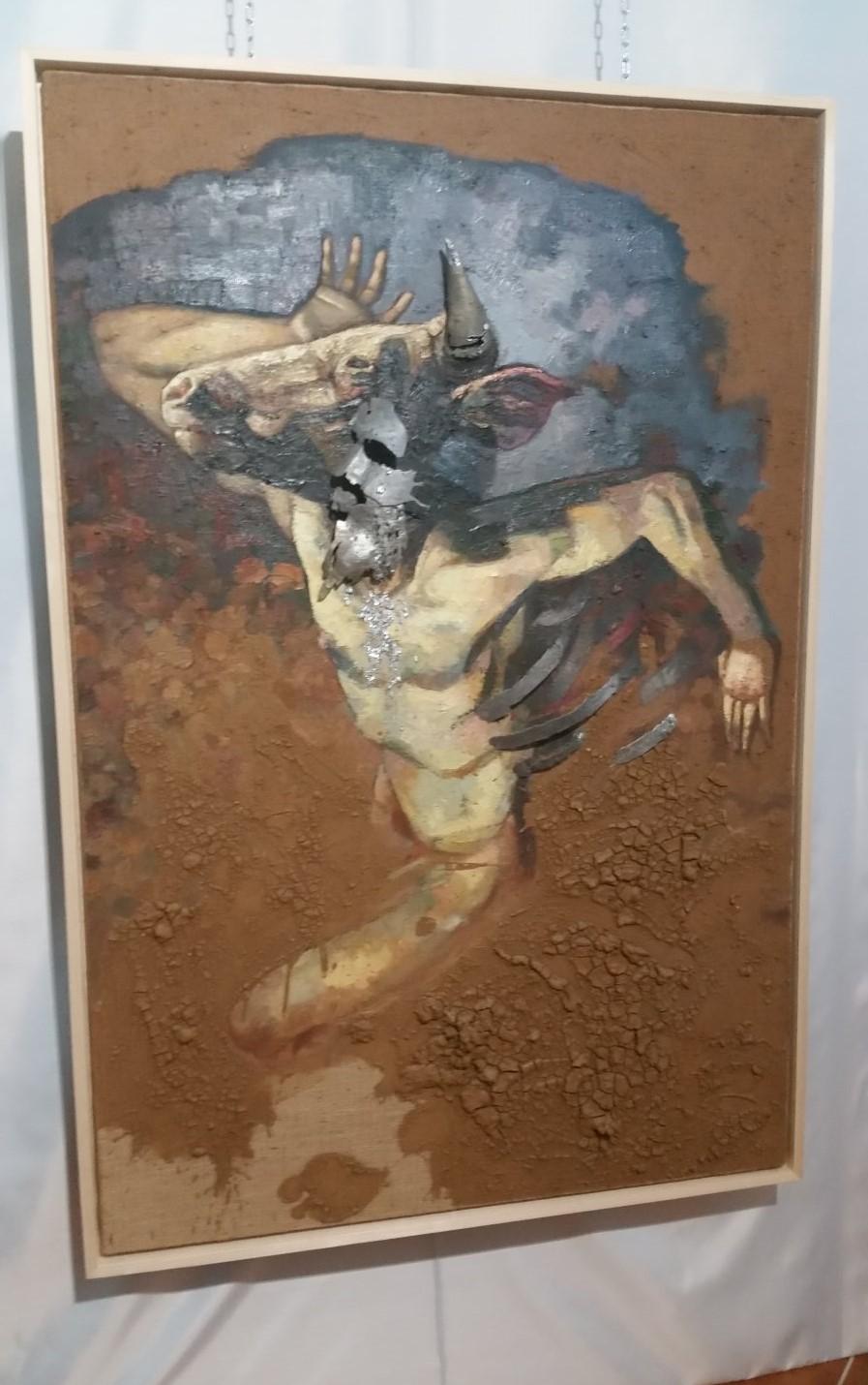 Tela con minotauro, di Marco D'Emilia
