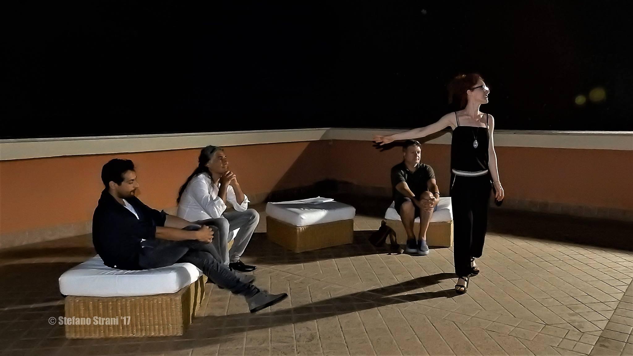 Valentina Lilla con (da sinistra) Luca Grossi, Marco D'Emilia e Biagio Cacciola