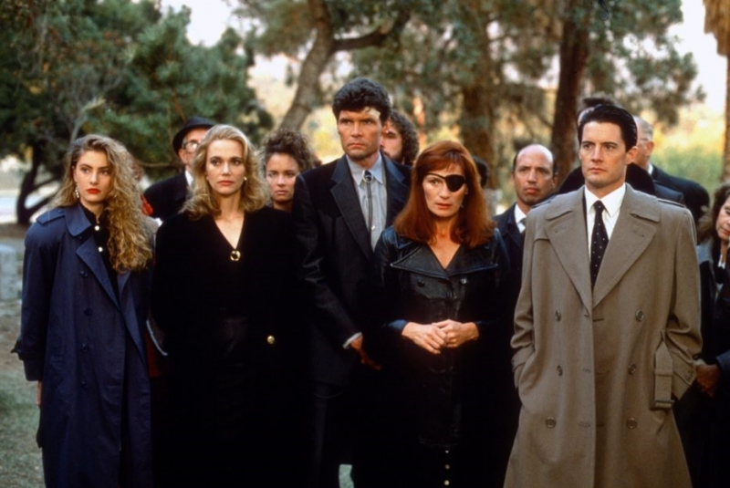 'Twin Peaks' (ABC) 1990 - 1991 - Created by David LynchFeaturing: Madchen Amick,Peggy Lipton,Everett McGill,Wendy Robie,Kyle MacLachlanWhere: United StatesWhen: 01 Jul 1991Credit: WENN.com**WENN does not claim any ownership including but not limited to Copyright or License in the attached material. Fees charged by WENN are for WENN's services only, and do not, nor are they intended to, convey to the user any ownership of Copyright or License in the material. By publishing this material you expressly agree to indemnify and to hold WENN and its directors, shareholders and employees harmless from any loss, claims, damages, demands, expenses (including legal fees), or any causes of action or allegation against WENN arising out of or connected in any way with publication of the material.**