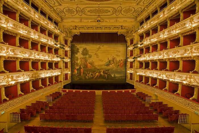 Parma, 2014: Parma downtown, the Teatro Regio.