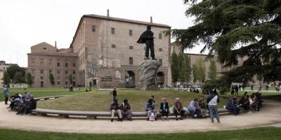 Parma, 21/09/2019: Piazza della Pace, il giorno dell'inaugurazione.
