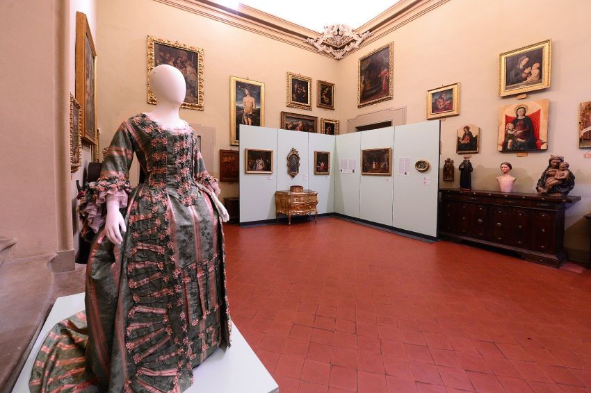 """BOLOGNA, ITALY - DECEMBER 05: The """"Le Plaisir Du Vivre"""" (Pleaure Of Living) about the venetian arts in 18th century exhibition preview at Davia Bargellini Museum on December 05, 2020 in Bologna, Italy. (Photo by Roberto Serra - Iguana Press/Getty Images)"""