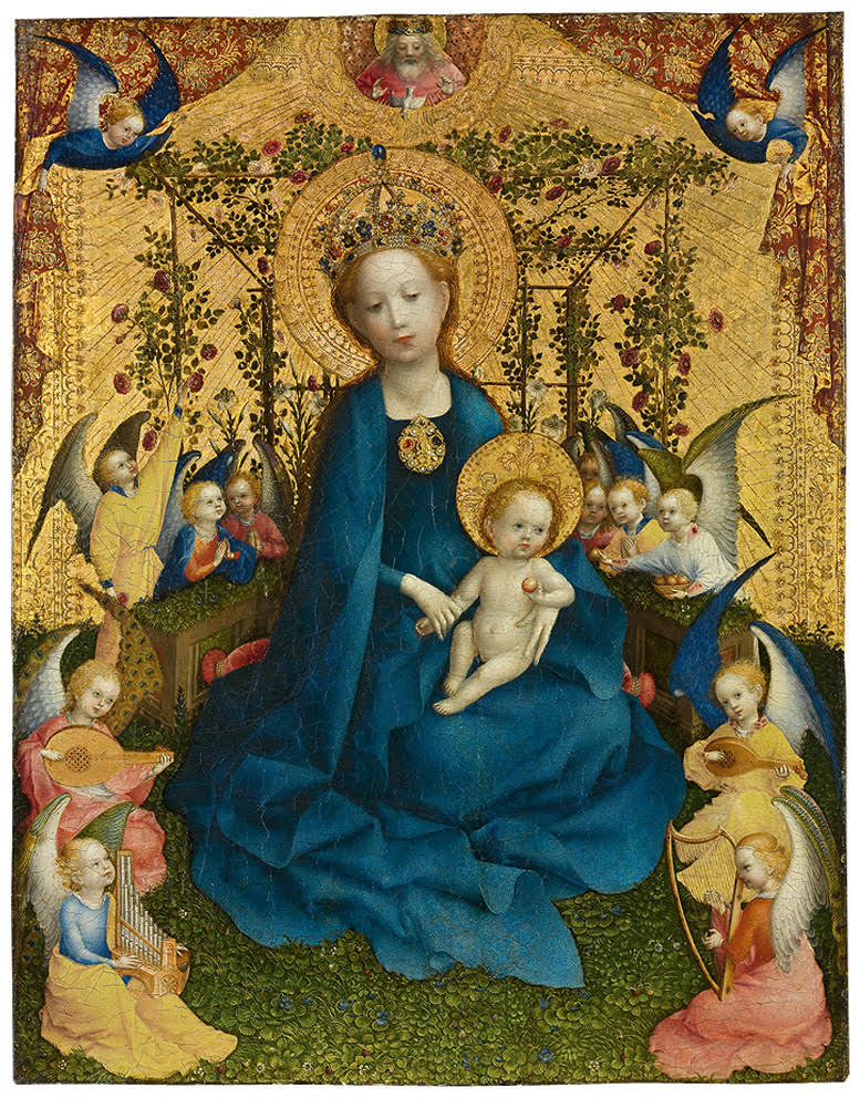 Madonna del roseto o Madonna del Pergolato di rose Stephan Lochner