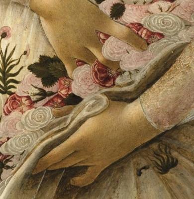 Particolare de La Primavera di Sandro Botticelli