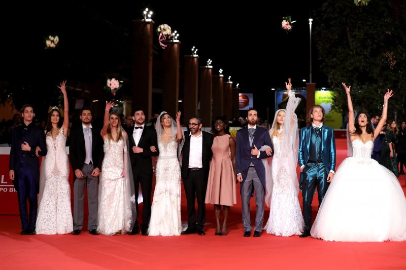 walks a red carpet for 'C'Est La Vie (Le Sense De La Fete)' during the 12th Rome Film Fest at Auditorium Parco Della Musica on October 30, 2017 in Rome, Italy.