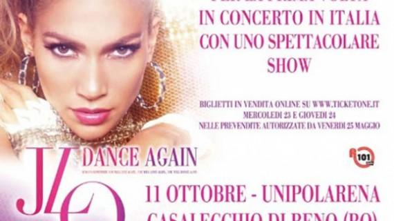"Jennifer Lopez a Bologna per il suo ""Dance Again Tour 2012"""