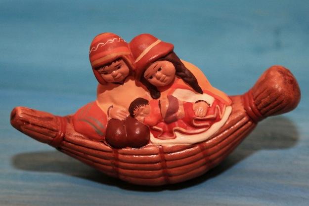 Miniature di presepi peruviani