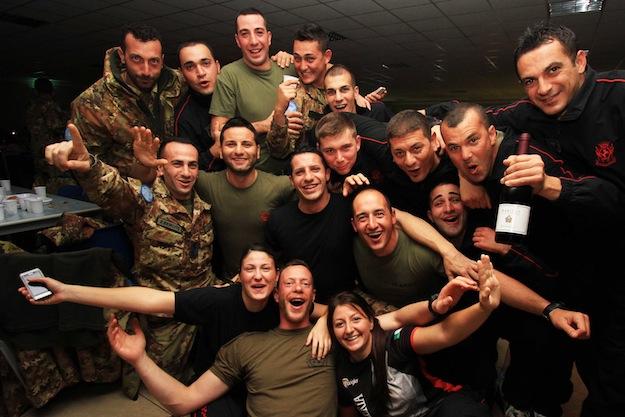 Capodanno nella base italiana di Unifil a Shama in Libano