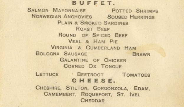 menu titanic