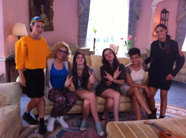 da sinistra Gaia Galizia, Roberta Pompa, Chiara Grispo, Violetta Zironi, Valentina Livi e Valentina Tioli