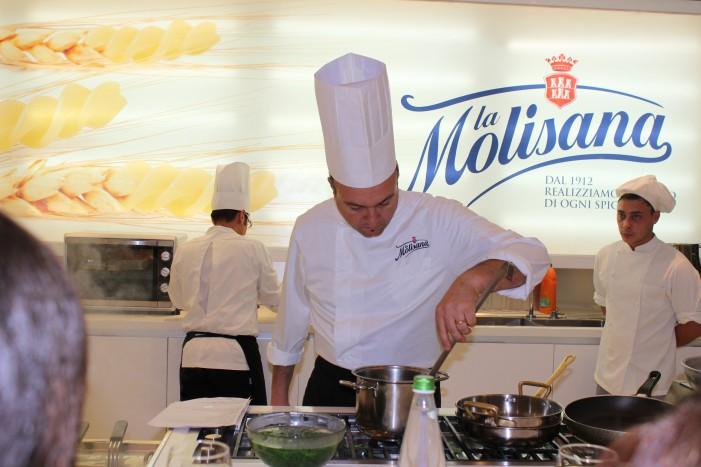 La Molisana sbarca a Milano.Tre Chef PRESSO i Corsi di Cucina Solidale