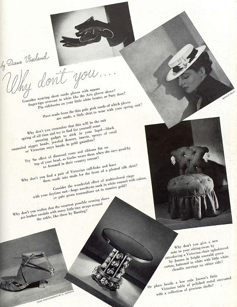 "La rubrica ""Why Don't You...?"", Harper's Bazaar, marzo 1937"