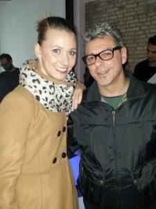 Roberta Filippi con Paolo Bolognesi
