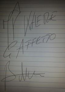 autografo Maurizio Battista