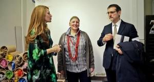 Simona Gavioli, Beatrice Calia e il sindaco Virginio Merola