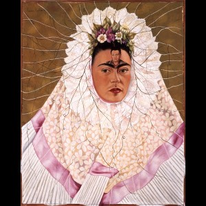 Frida Kahlo, Autoritratto come Tehuana o Diego nei miei pensieri o Pensando a Diego, 1943 Olio su Masonite. The Jacques and Natasha Gelman Collection of 20th Century Mexican Art and The Vergel Foundation