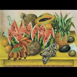 Frida Kahlo, La sposa che si spaventa vedendo la vita aperta, 1943 Olio su tela. The Jacques and Natasha Gelman Collection of 20th Century Mexican Art and The Vergel Foundation