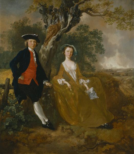 Thomas Gainsborough - Coppia in un paesaggio Hogarth Reynolds Turner