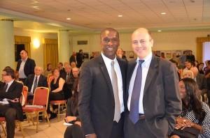 Clarence Clyde Seedorf con il giornalista Ruben Razzante