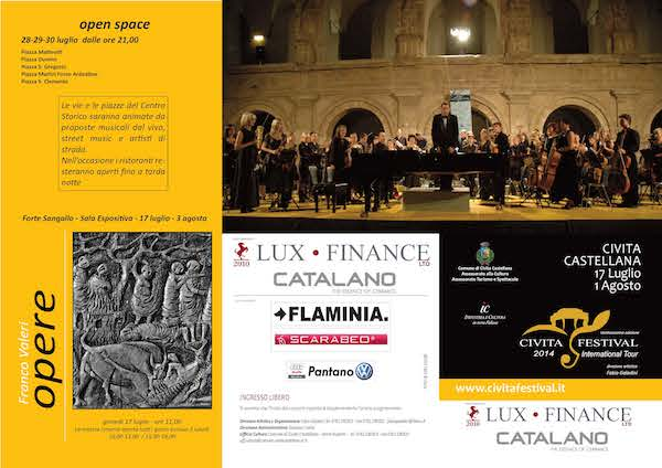 Grandi artisti, musica e performance teatrali per il via del Civitafestival 2014