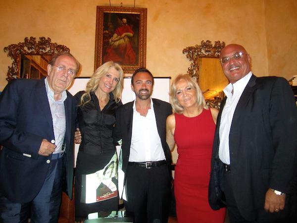 da sin.Michele Mirabella, Gabriella Carlucci, Daniele Di Giorgio, Emilia Costantini, Corrado Ruggeri