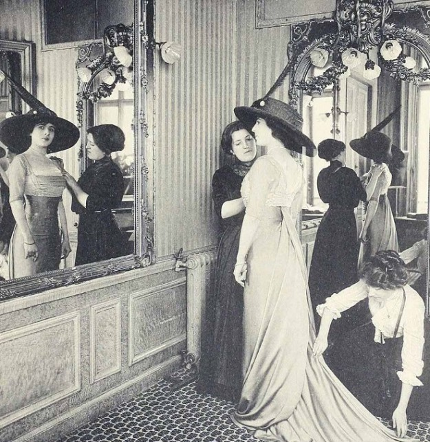1910 House of Paquin - A fitting - Paris Fashion