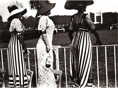 Lartigue, foto di mannequins alle corse dei cavalli