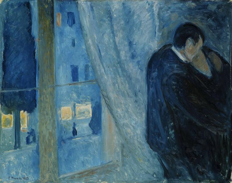 Edvard Munch, Bacio alla finestra, 1892 (Galleria Nazionale, Oslo)