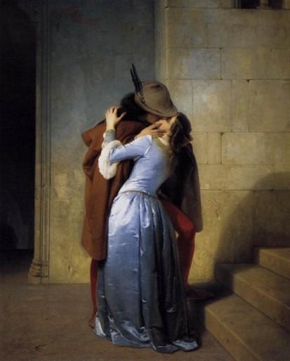 Francesco Hayez, Il Bacio, 1859 (Pinacoteca di Brera, Milano)
