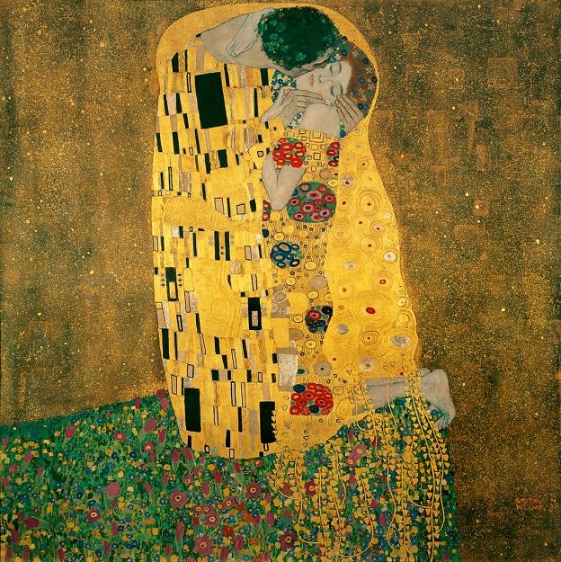 Gustav Klimt. Il Bacio, 1907-1908 (Österreichische Galerie Belvedere di Vienna)
