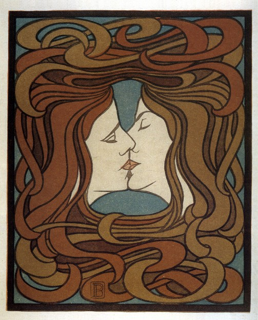 Peter Behrens, Der Kuss, 1898, riprodotto sul Magazine Pan