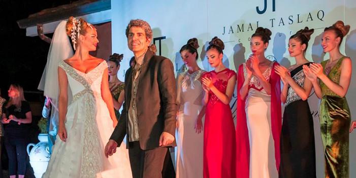 Appare colore e brio nella sfilata di Jamal Taslaq