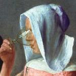 26 - Jan Vermeer, Bicchiere di vino, 1659-60, Gemäldegalerie, Berlino- dettaglio
