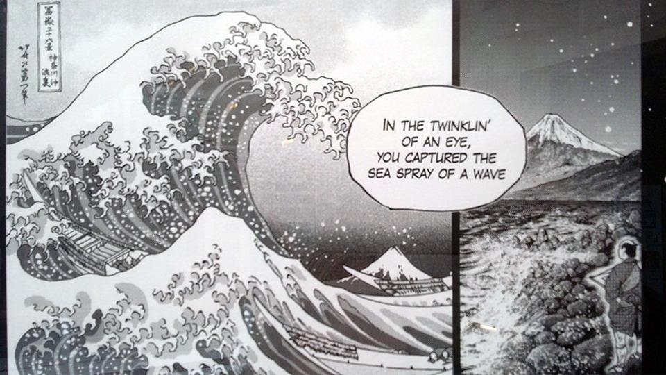 La Grande Onda - rielaborazione in manga contemporaneo