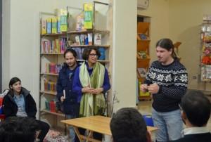 Riccardo Iannuccelli (in piedi a destra) e Giulia Cascone con Alessio Silo